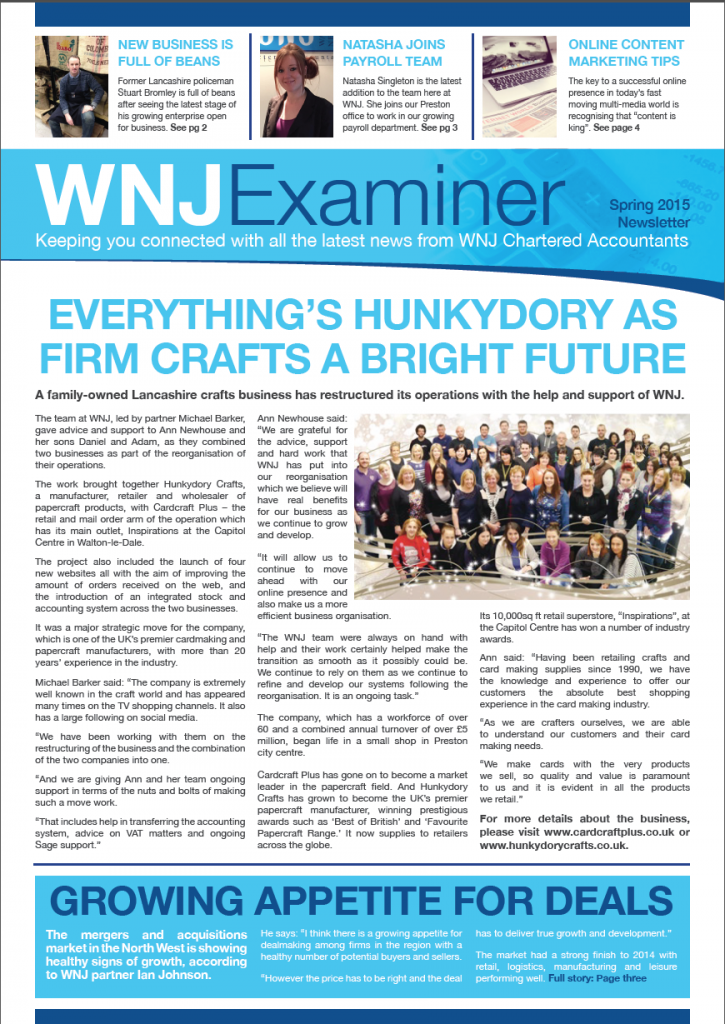 WNJ Newsletter cover